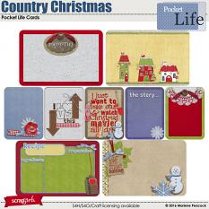 Country Christmas Pocket Life Cards