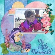 My Little Mermaid digital scrapbook layout by Laura Louie