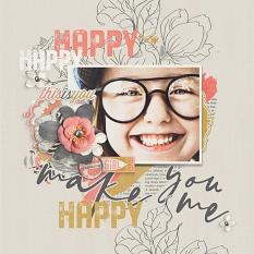 You Make Me Happy digital scrapbooking layout by Brandy Murry