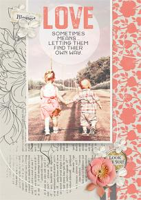 Love Sometimes Means digital scrapbooking layout by Brandy Murry