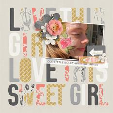 Love this Sweet Girl digital scrapbooking layout by Brandy Murry