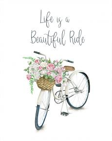 Printable Art: 5x7 and 8x10 Life is a Beautiful Ride - Closeup