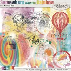 Somewhere Over The Rainbow Transfers And Paint by On A Whimsical Adventure