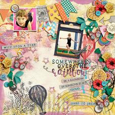 Digital layout using Value Pack Somewhere Over The Rainbow by On A Whimsical Adventure