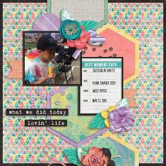 Layout by Penny using Project Keepsake: May - Burlap Stack