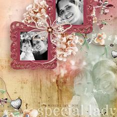 Special Lady #digitalscrapbooking Mother's Day layout by Amanda Fraijo-Tobin | AFTdesigns #digiscrap #scrapbookpage