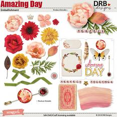 Amazing Day Embellishment by DRB Designs | ScrapGirls.com