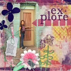 """Explore"" #digitalscrapbooking layout by AFT Designs - Amanda Fraijo-Tobin @ScrapGirls.com"