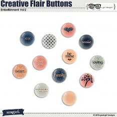 Creative Flair Buttons Vol 2