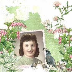 Wanda Layout by Angela Blanchard using Woodland Botanical Collection Biggie