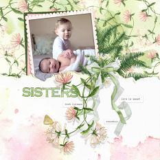 Sisters layout by Angela Blanchard using Woodland Botanical Collection Biggie
