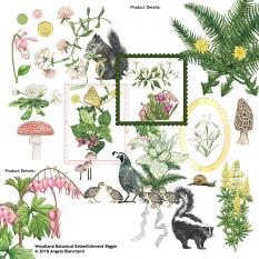Woodland Botanical Collection Biggie Embellishments