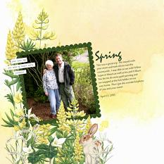 Layout by Angela Blanchard using Woodland Botanical Collection Biggie