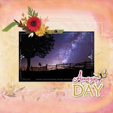 """Amazing Day"" digital scrapbook layout by Sondra Cook"