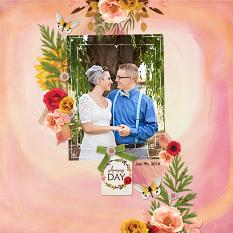 """Amazing Day"" digital scrapbook layout by Andrea Hutton"