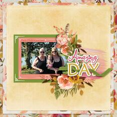 """Amazing Day"" digital scrapbook layout by Debby Leonard"