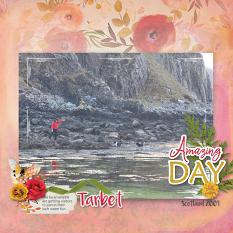 """Tarbet"" digital scrapbook layout by Marie Hoorne"