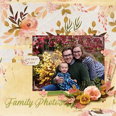 """Family Photos"" digital scrapbook layout by April Martell"