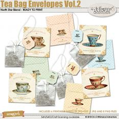 Tea Bag Envelopes Vol2 by On A Whimsical Adventure