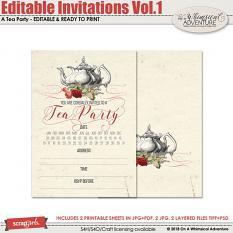 Editable Invitation Vol1 by On a Whimsical Adventure
