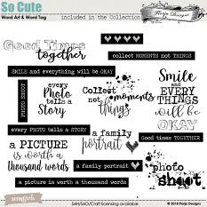 So Cute Word art and Word tag by florju designs