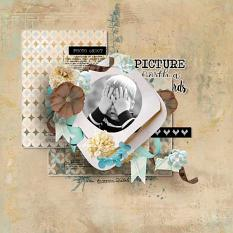 layout using So Cute Word art and Word tag by florju designs