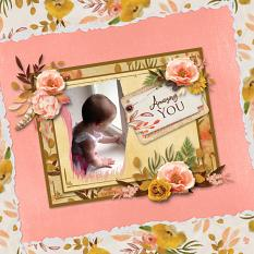 """Amazing You"" digital scrapbook layout by Sue Maravelas"