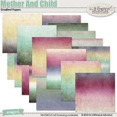 Mother And Child Gradient Papers by On A Whimsical Adventure