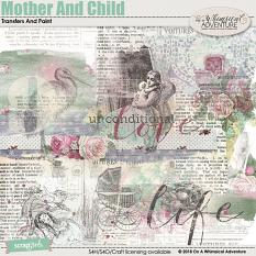 Mother And Child Transfers And Paint by On A Whimsical Adventure