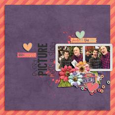 Layout by Bekah using Love That Smile - Messy Accents