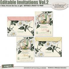 Editable Invitations Vol2 Baby Shower by On A Whimsical Adventure