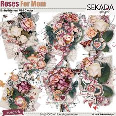 Roses For Mom Embellishment Mini Cluster