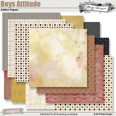 Boys Attitude Addon Papers by florju designs