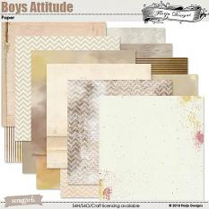 Boys Attitude Papers by Florju Designs