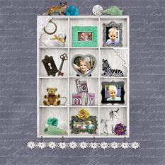 """Family"" digital scrapbook layout by Andrea Hutton"