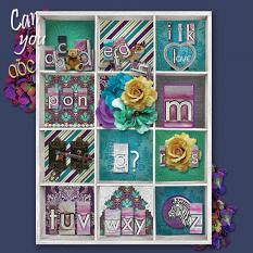 """Can you abc"" digital scrapbook layout by Marie Hoorne"