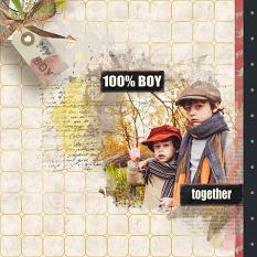 layout using Boys Attitude Addon Papers by florju designs