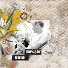 layout using ScrapSimple Embellishment template : Boys Attitude Clipping Mask by florju designs