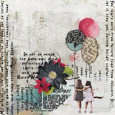 Scrapbook page created with Wordsmith Digital Kit