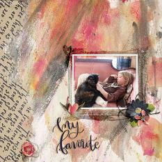 Scrapbook layout created with Wordsmith Digital Kit