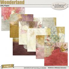 Wonderland Artsy Papers by On A Whimsical Adventure
