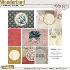 Wonderland Journal Cards by On A Whimsical Adventure