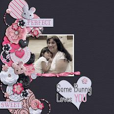 """Some Bunny Loves You"" digital scrapbook layout by Shauna Trueblood"