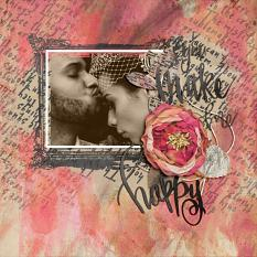 Scrapbook page created with Wordsmith Collection Super Mini