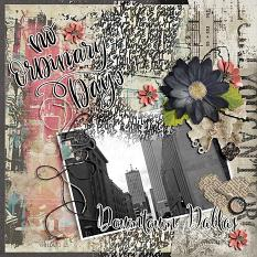 Scrapbook layout using Wordsmith Collection Super Mini