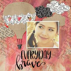 Scrapbook page created using Wordsmith Word Art Mini
