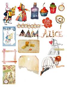 Alice and Friends Collection Mini Sheet 1 by Aftermidnight Design