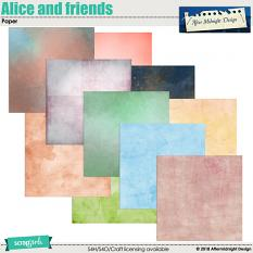 Alice and friends Papers by Aftermidnight Design