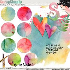 Watercolor Brights Custom Layer Styles