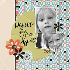 scrapbook page uses On A Whim embellishment templates